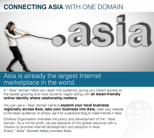 Connecting Asia with One Domain