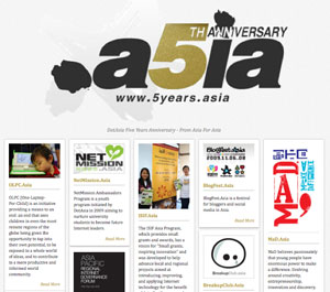 5Years.Asia: Five Year Anniversary Promo