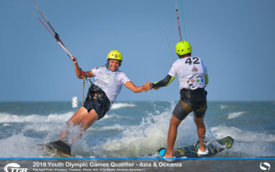 Young Asian Kiteboarders make their mark in the Youth Olympics Qualifiers in Thailand (www.thailandyog.asia) with China, Philippines, Australia and New Zealand going to Buenos Aires.