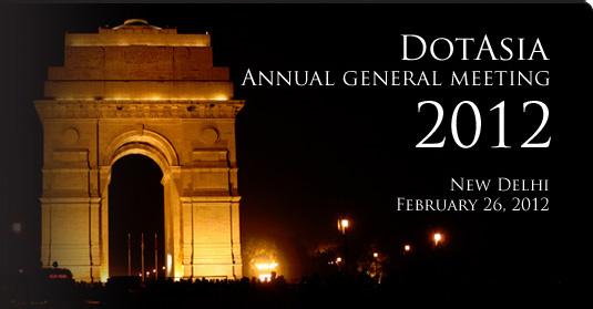DotAsia AGM 2012, New Delhi