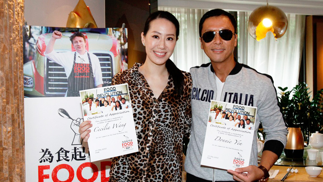 Donnie Yen, Cissy Wang supporting Go.Asia's Food Revolution Day Efforts in Hong Kong