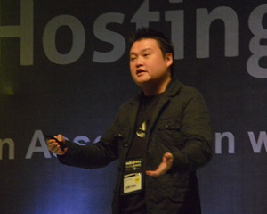 Edmon Chung, DotAsia CEO, presented at the ResellerClub Hosting Summit Friday on the importance of IDNs