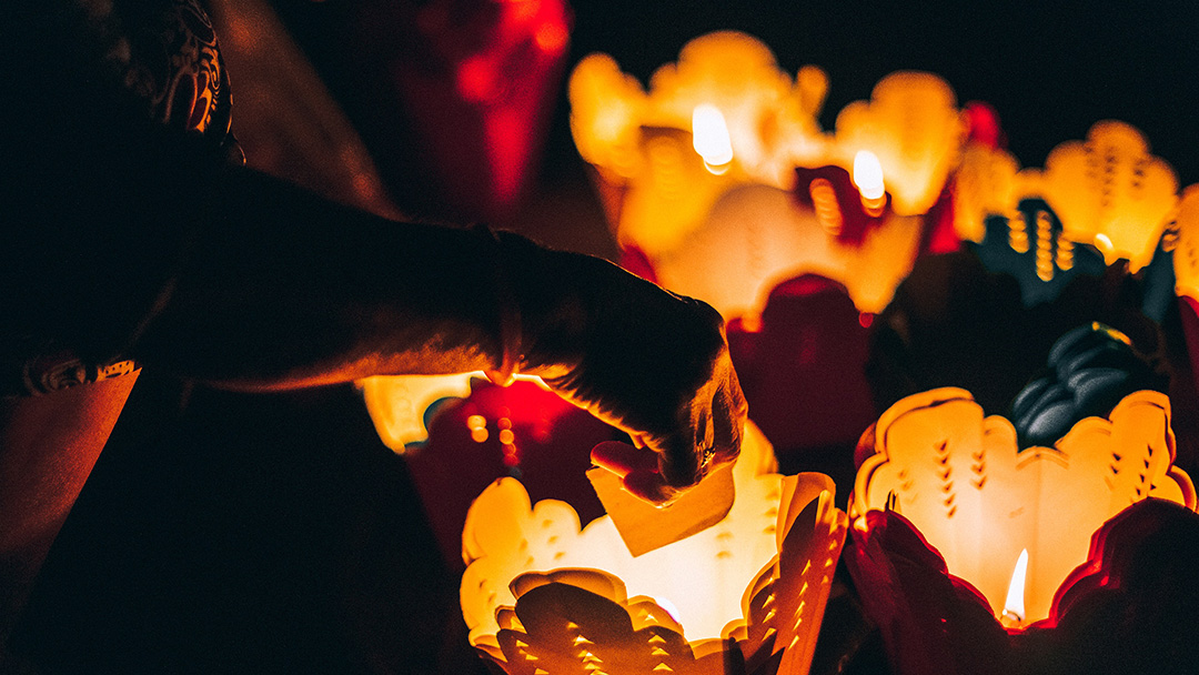 Floating lanterns in Hoi An